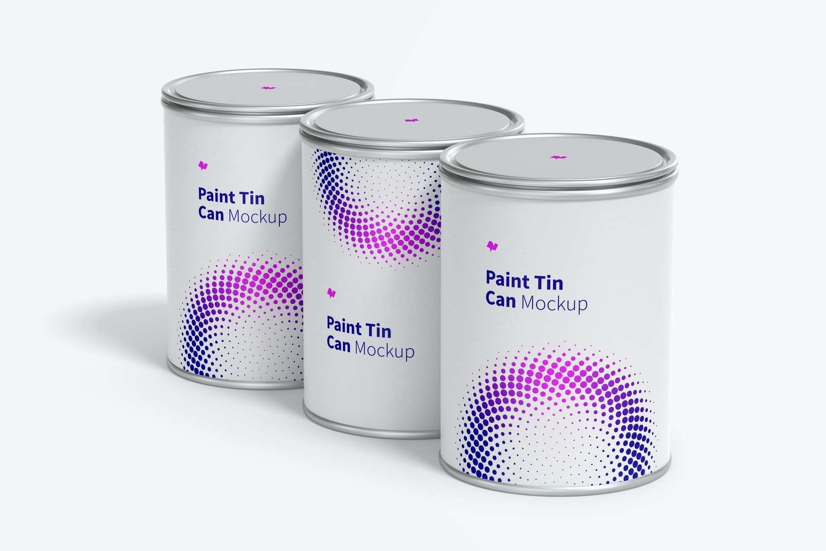 Paint Tin Cans Set Mockup