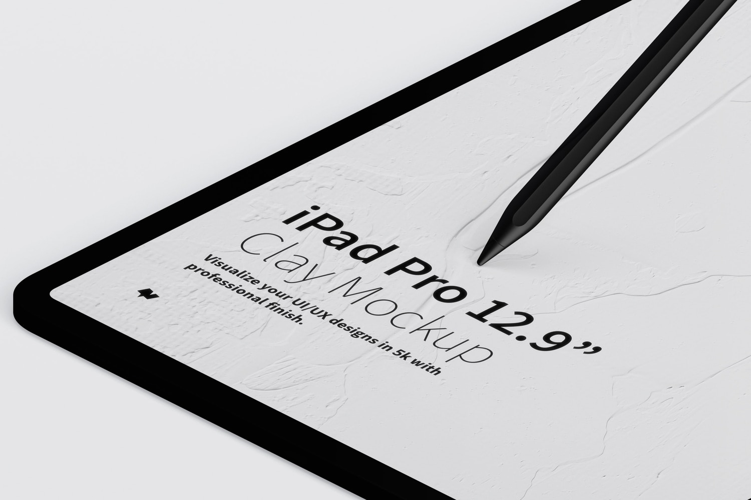 """Clay iPad Pro 12.9"""" Mockup, Isometric Right View (3) by Original Mockups on Original Mockups"""