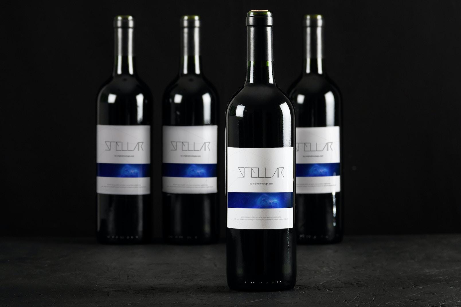 Maqueta de Botella de Vino 3