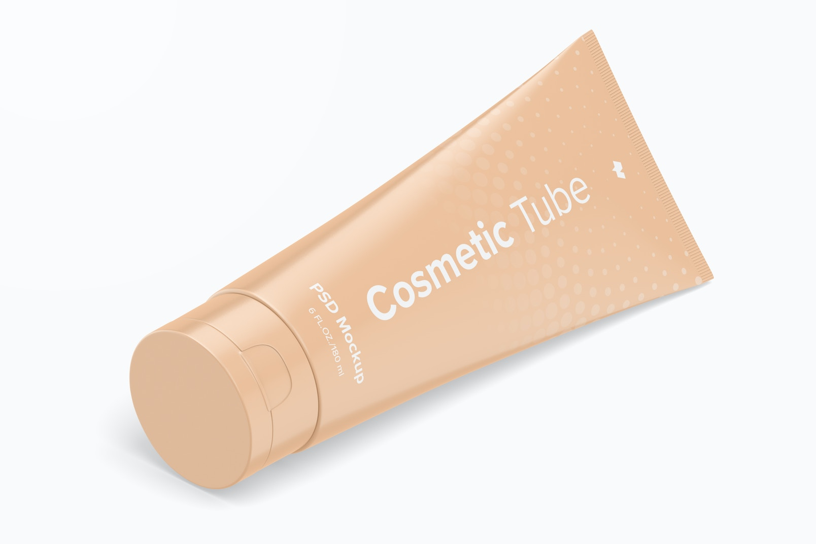 180 ml Cosmetic Tube Mockup, Isometric