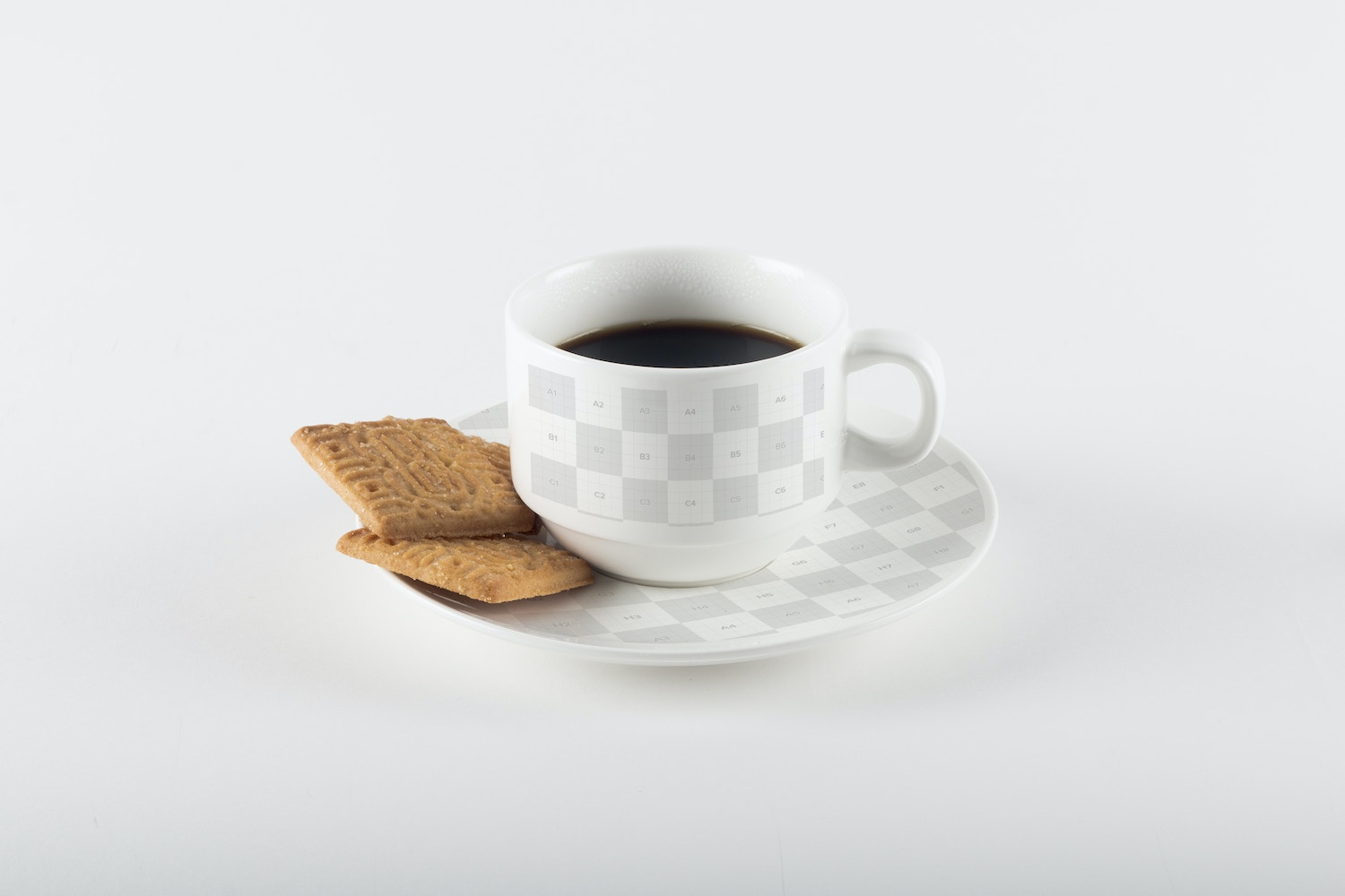 Coffee Cup with Cookies Mockup 03