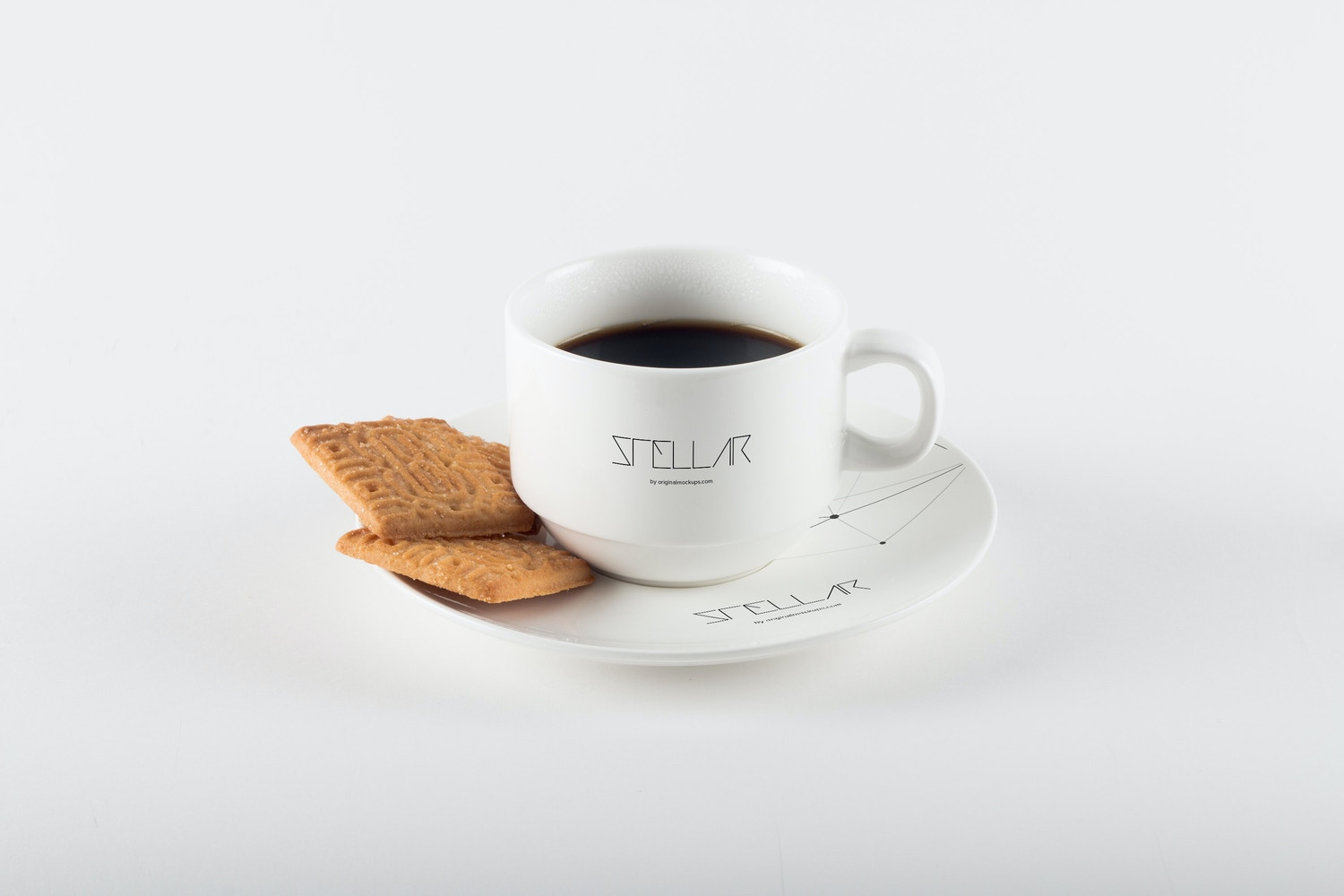 Coffee Cup with Cookies Mockup 03 by Original Mockups on Original Mockups