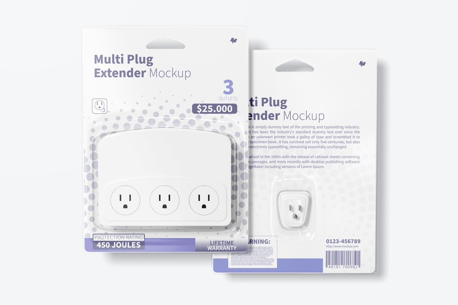 Multi Plug Extender Mockup