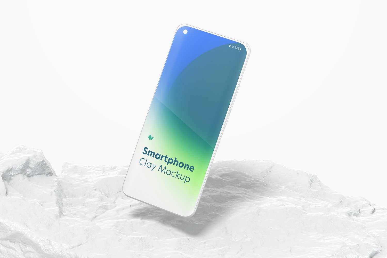 Clay Xiaomi Smartphone Mockup, Falling