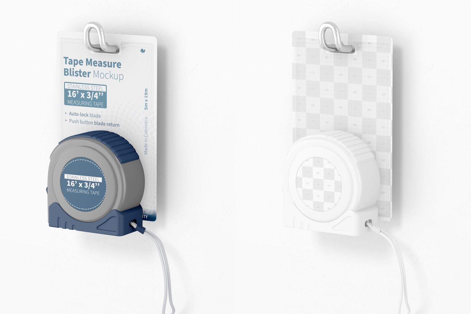 Tape Measure Blister Mockup, Hanging
