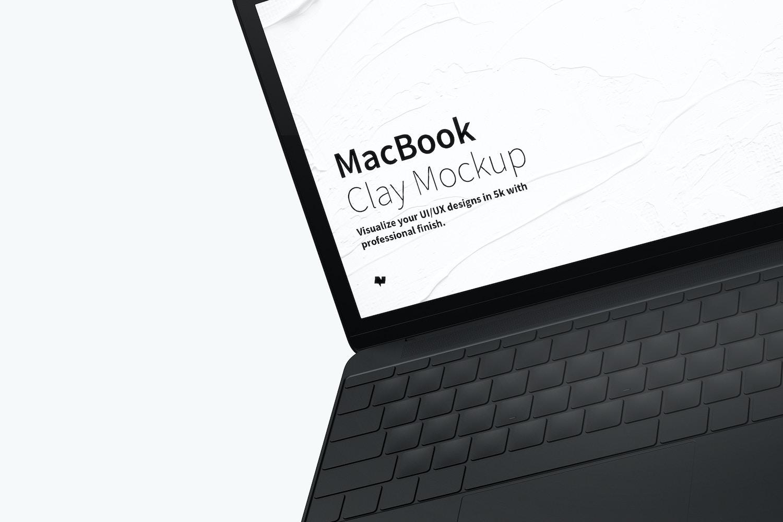 Clay MacBook Mockup, Floating (3) by Original Mockups on Original Mockups