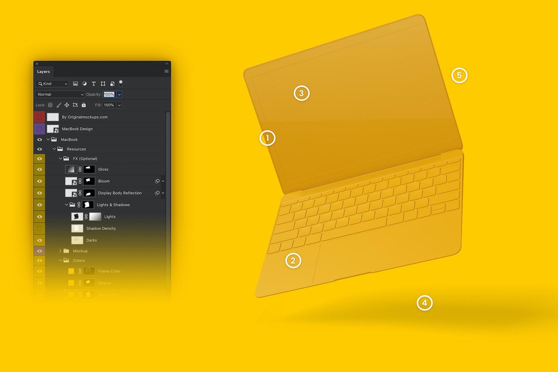 Clay MacBook Mockup, Floating (6) by Original Mockups on Original Mockups