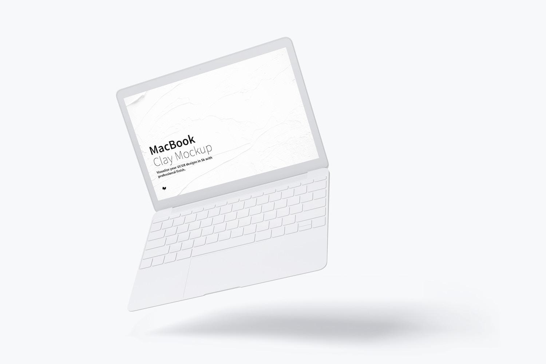 Clay MacBook Mockup, Floating (1) by Original Mockups on Original Mockups