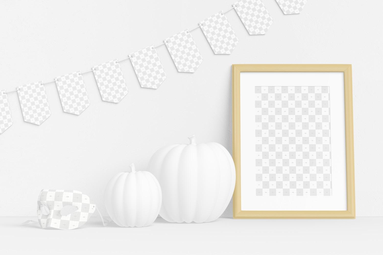 Halloween with Frame Scene Mockup