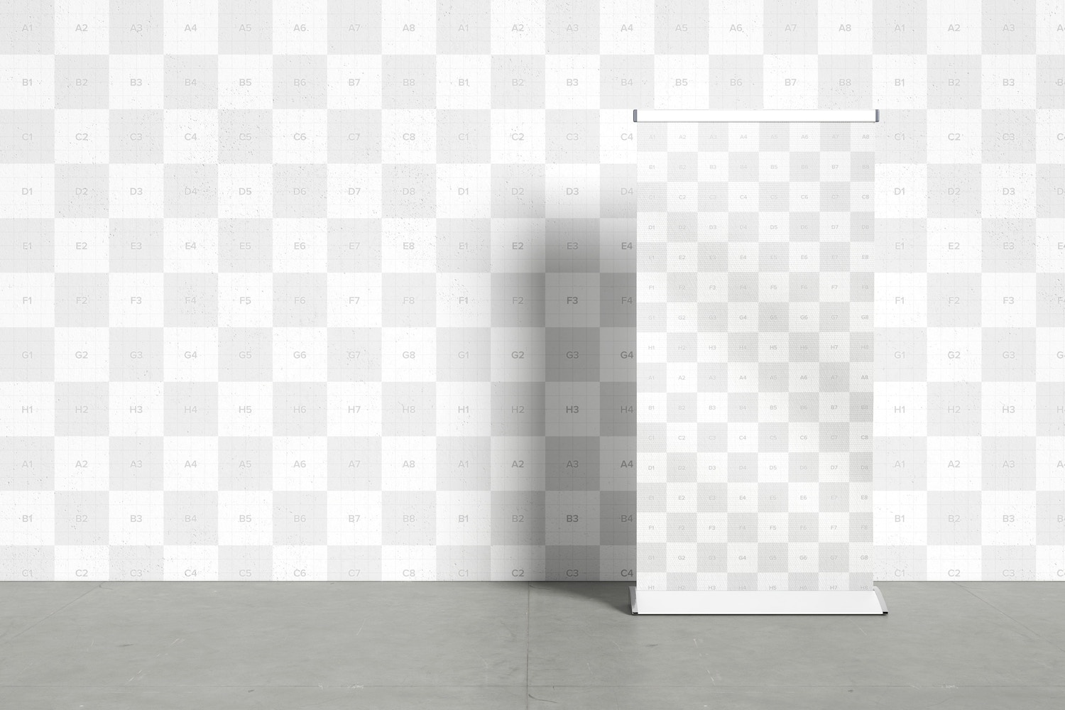 The grid is shown all the editable zones that allow the PSD Mockup