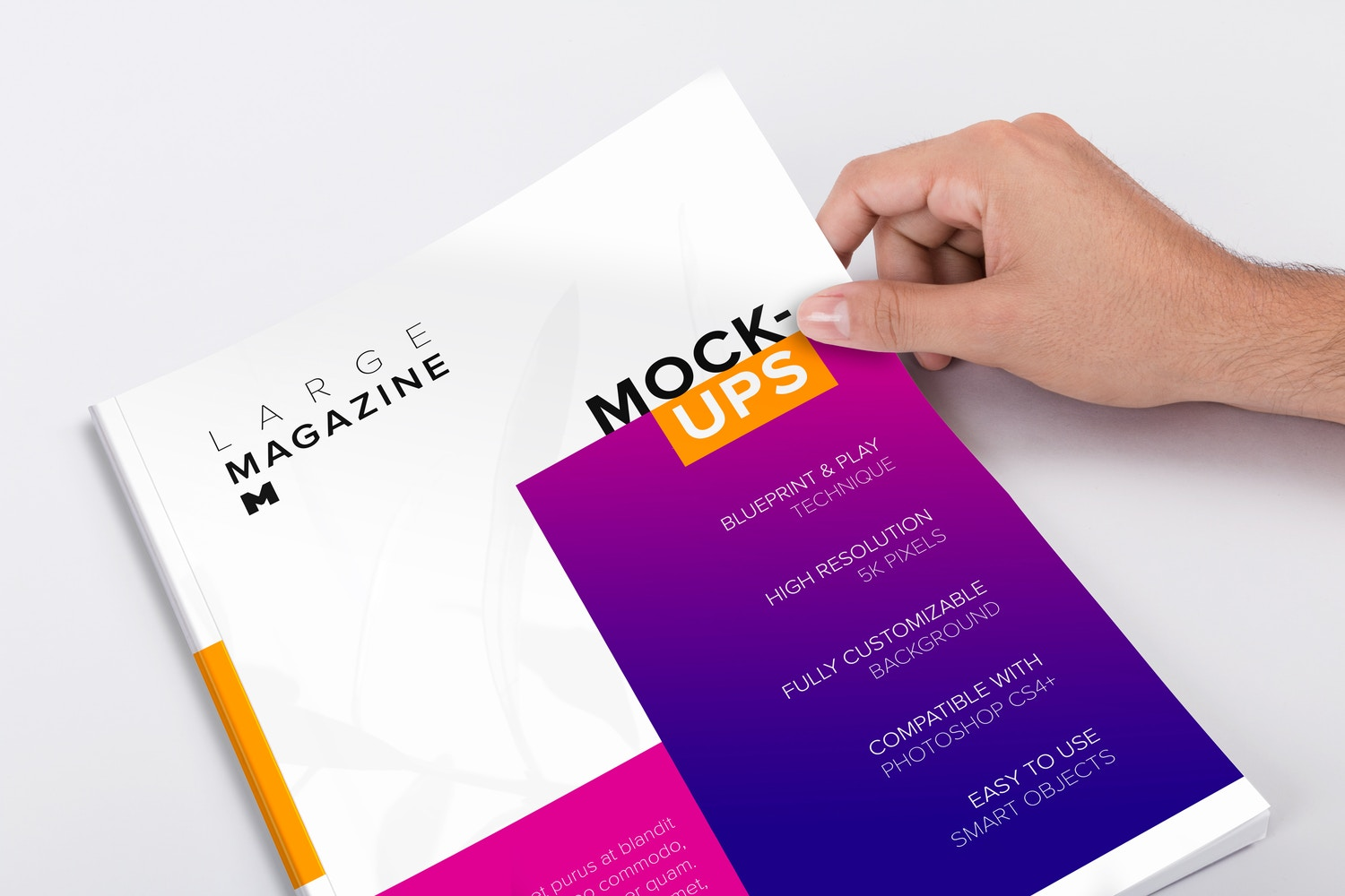 Large Magazine Cover Mockup 03 by Original Mockups on Original Mockups