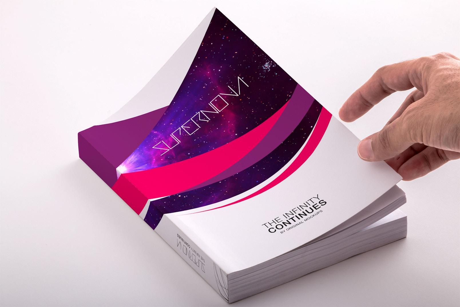 Softcover Trade Book PSD Mockup 01