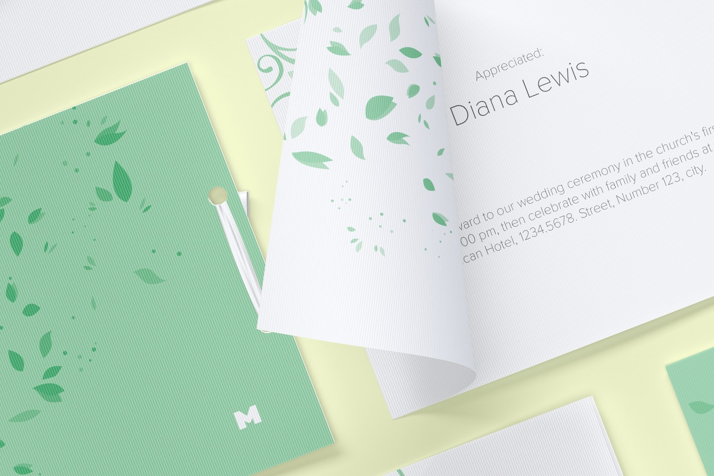 Wedding Cards Mockup, Grid Layout (3) by Original Mockups on Original Mockups