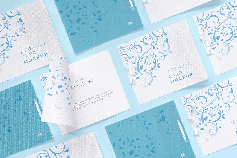 Wedding Cards Mockup, Grid Layout (4) by Original Mockups on Original Mockups