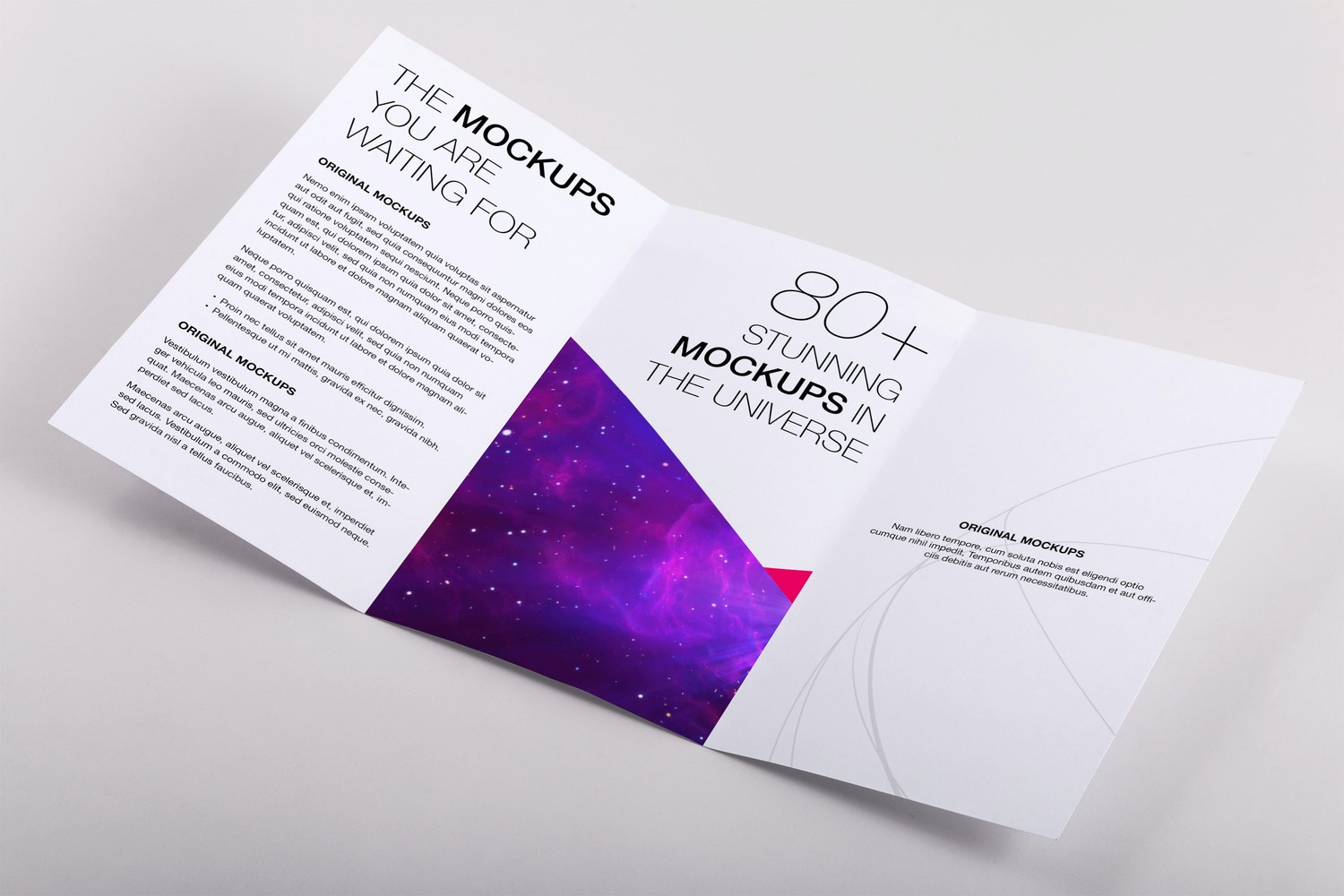 Legal Trifold Brochure PSD Mockup 03 by Original Mockups on Original Mockups