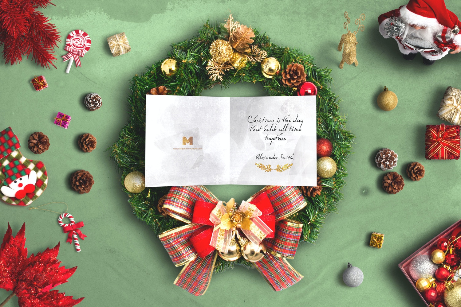 Christmas Header And Hero Scene Mockup 01 por Original Mockups en Original Mockups