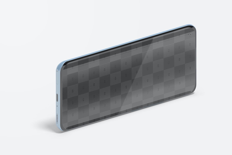 Isometric Xiaomi Smartphone Mockup, Landscape Right View