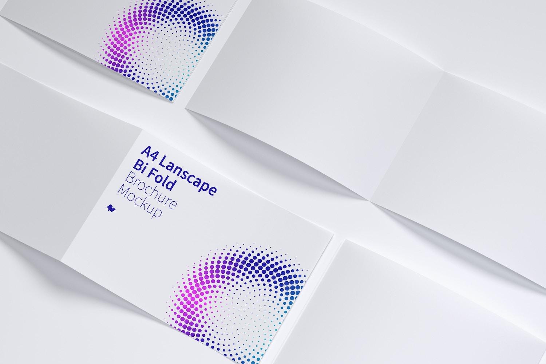 A4 Landscape Bi Fold Brochure Mockup 06 by Original Mockups on Original Mockups