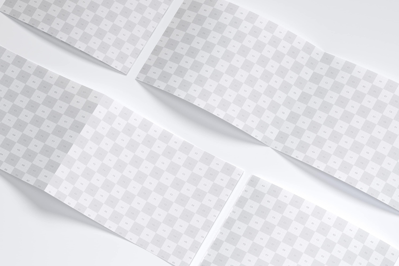 Maqueta de un Folleto A4 Horizontal Díptico 06 (3) por Original Mockups en Original Mockups