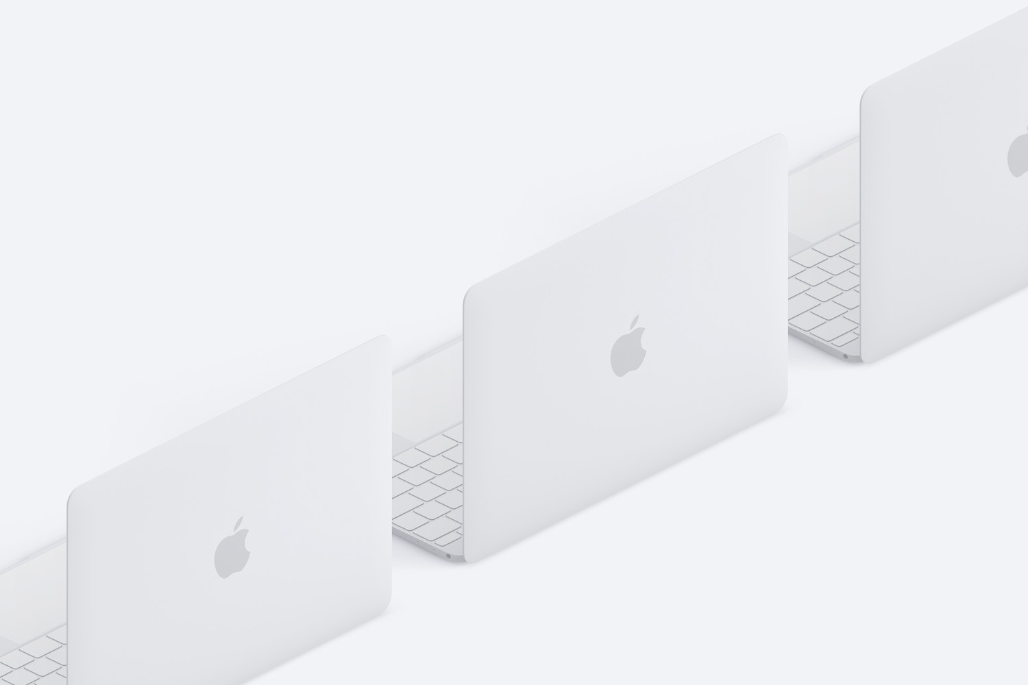 Clay MacBook Mockup, Isometric Back Right View (3) by Original Mockups on Original Mockups