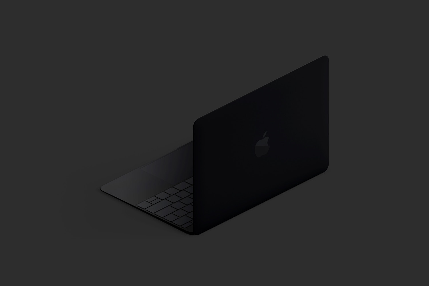 Clay MacBook Mockup, Isometric Back Right View (5) by Original Mockups on Original Mockups