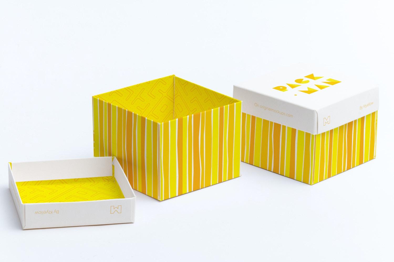 Cube Gift Box Mockup 02
