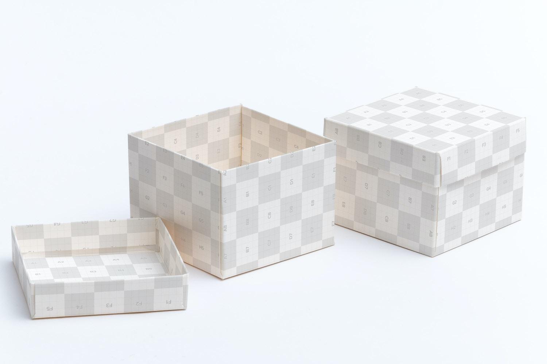 Cube Gift Box Mockup 02 by Ktyellow  on Original Mockups