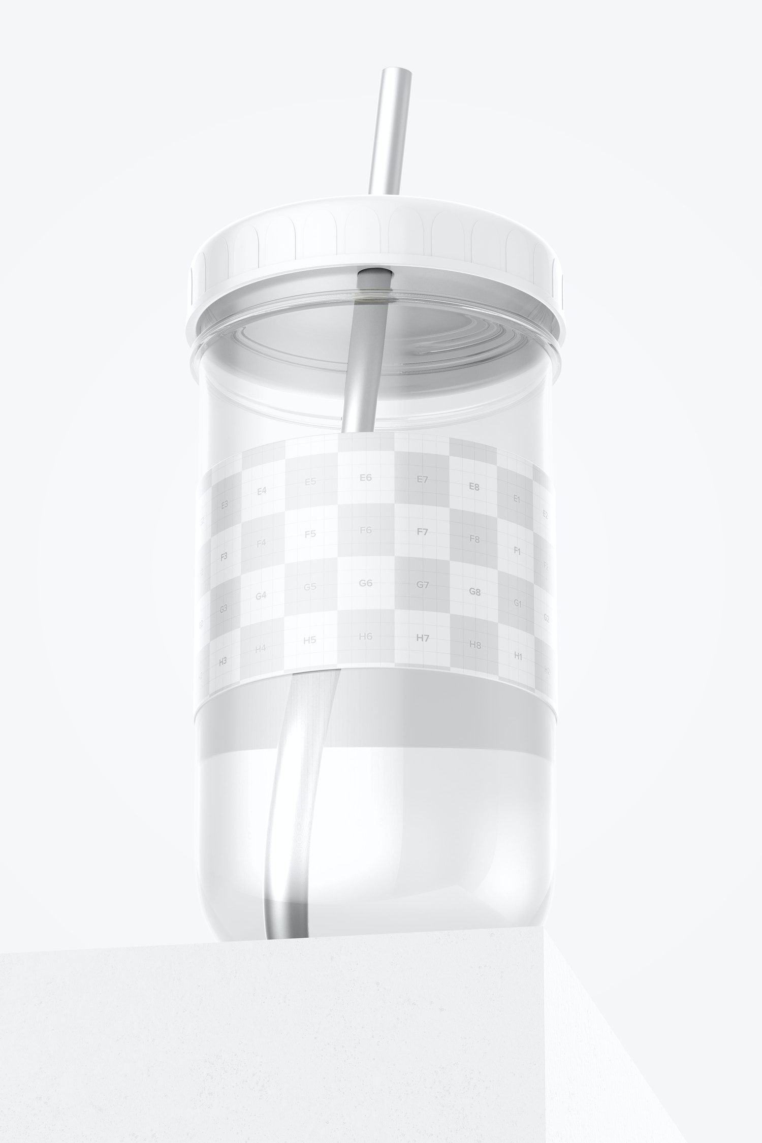 Smoothie Cup with Lid Mockup