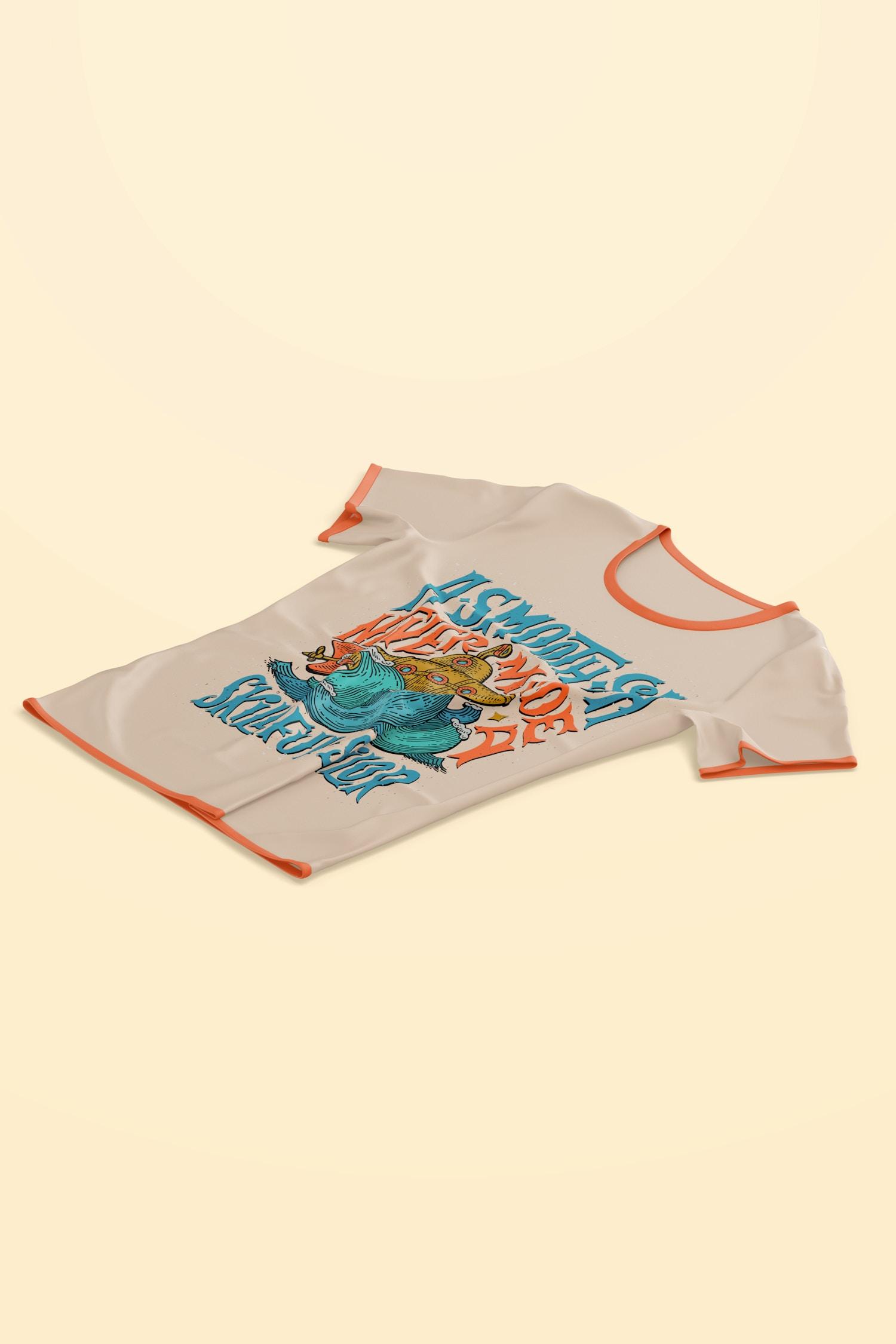 T-Shirt Mockup, Isometric Left View