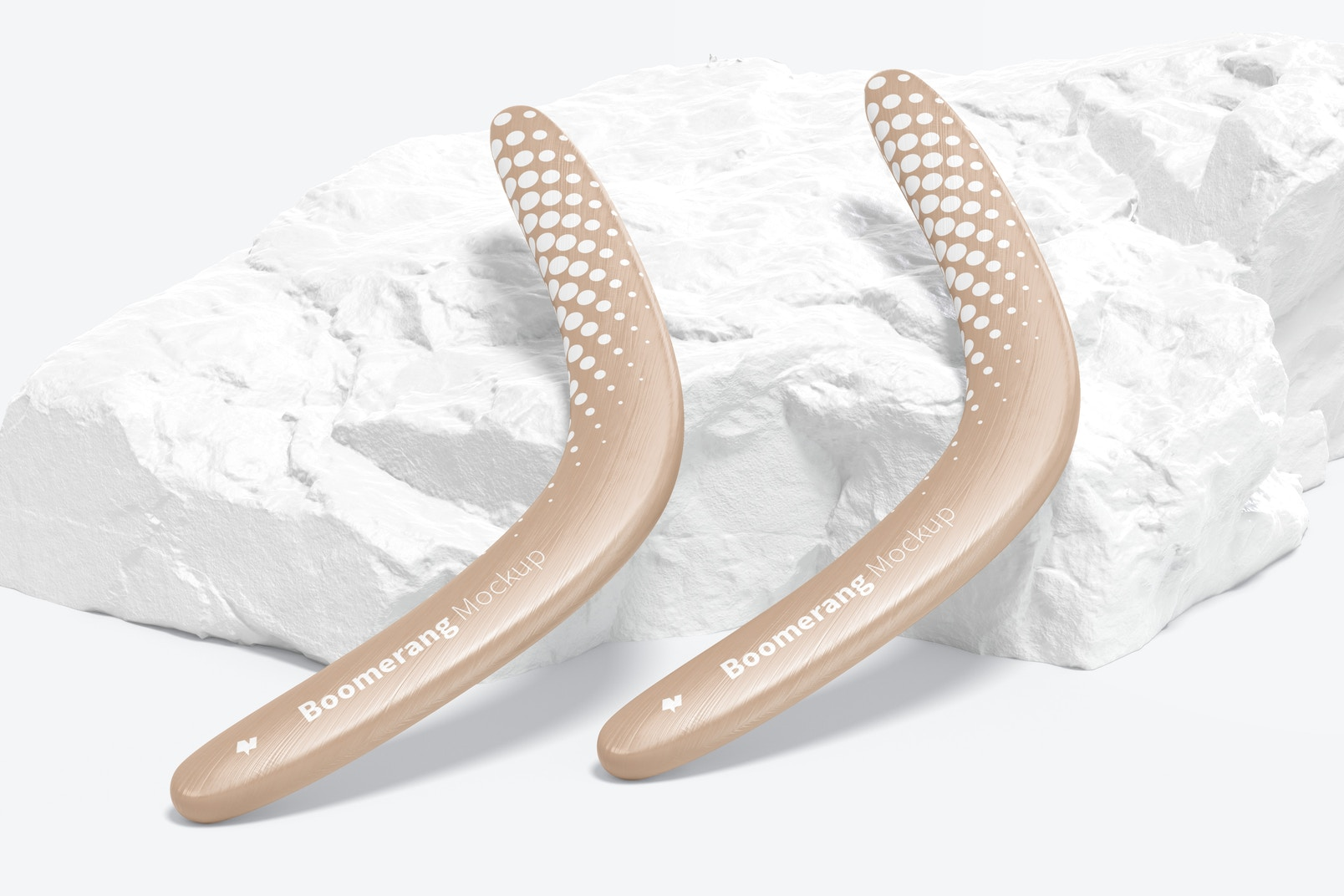 Boomerangs Mockup, Leaned