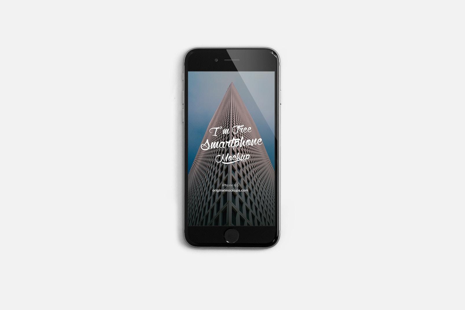 Maqueta de iPhone 6S Gratis