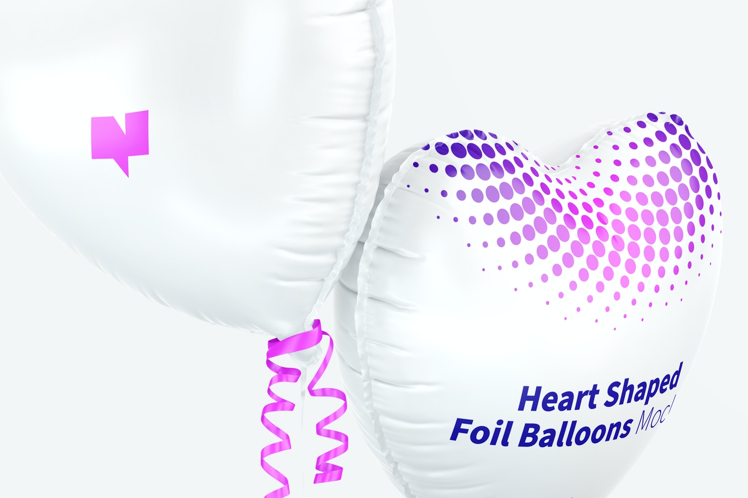 Thanks to the 5k hight resolution you can see the folds on the edge of the balloons.