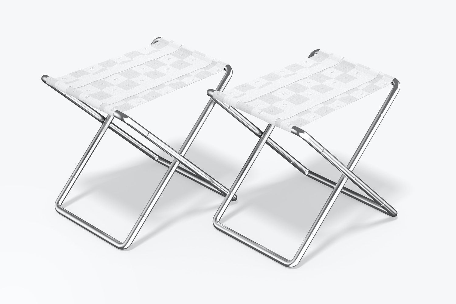 Folding Chairs Mockup, Right View