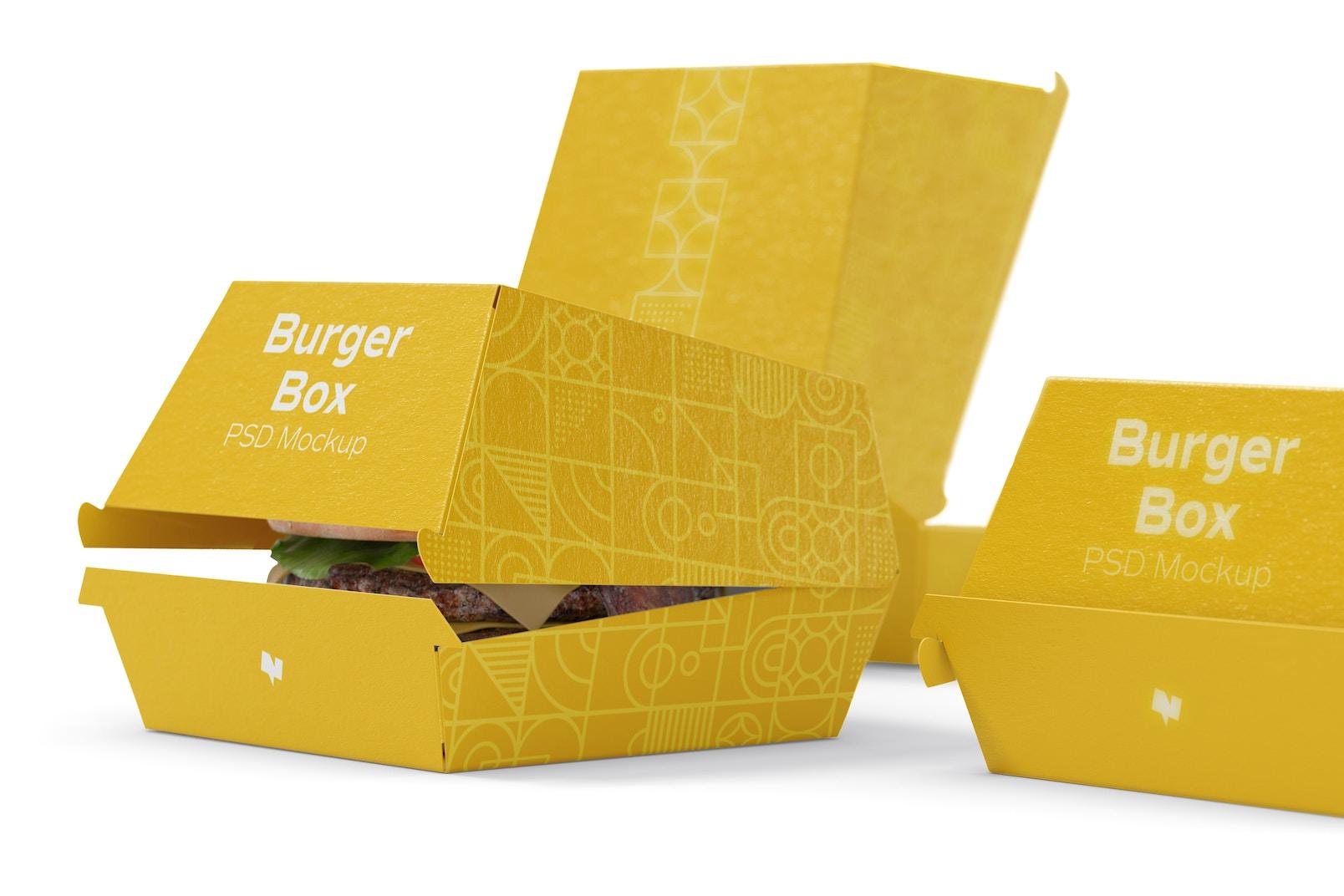 Burger Boxes Mockup