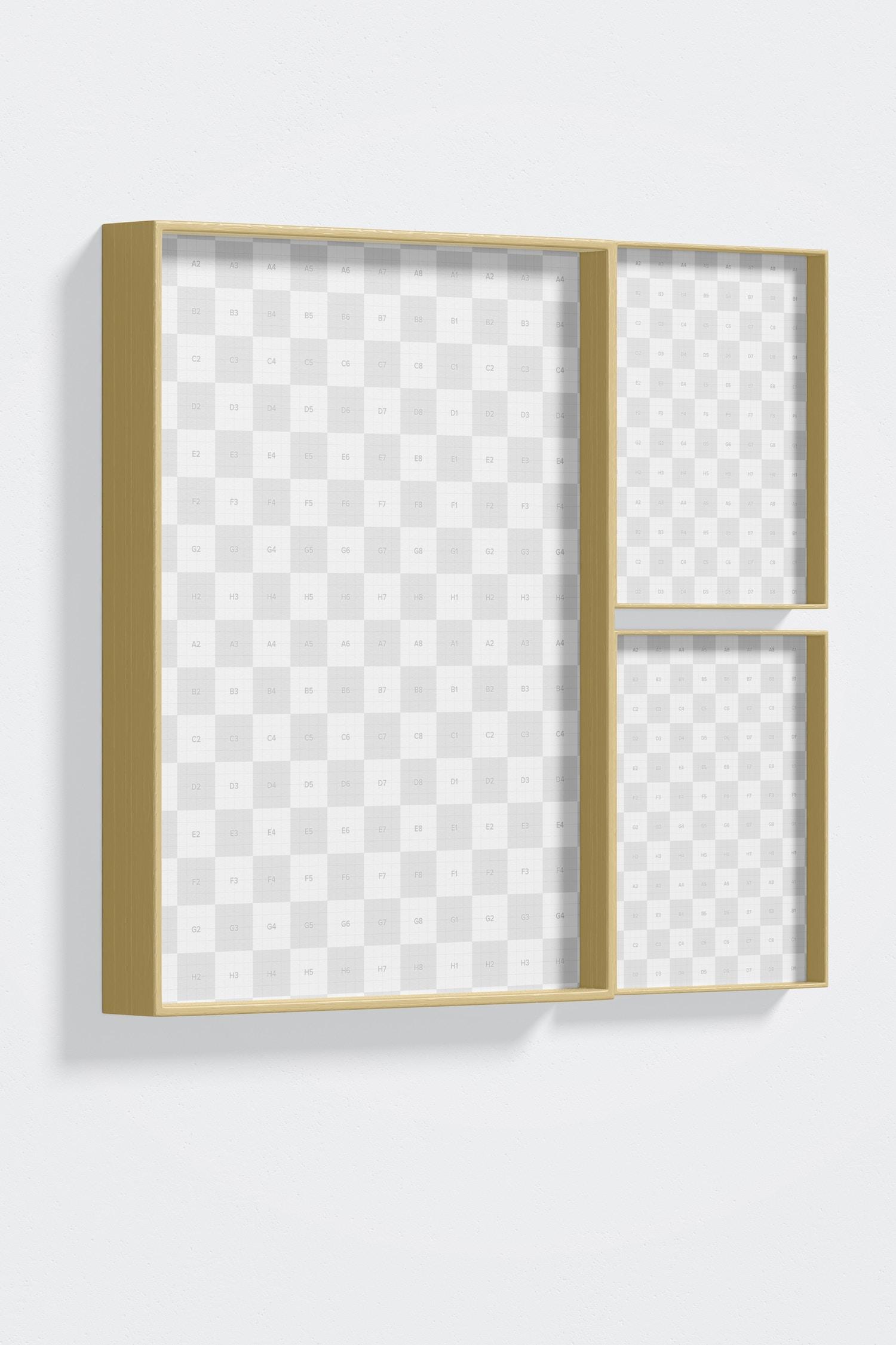 4:3 Frame Set Mockup, Left View