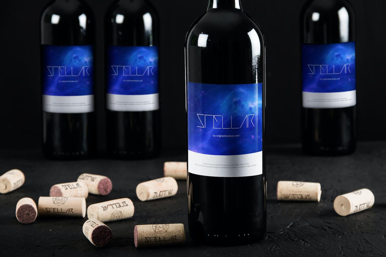 Maqueta de Botella de Vino 7