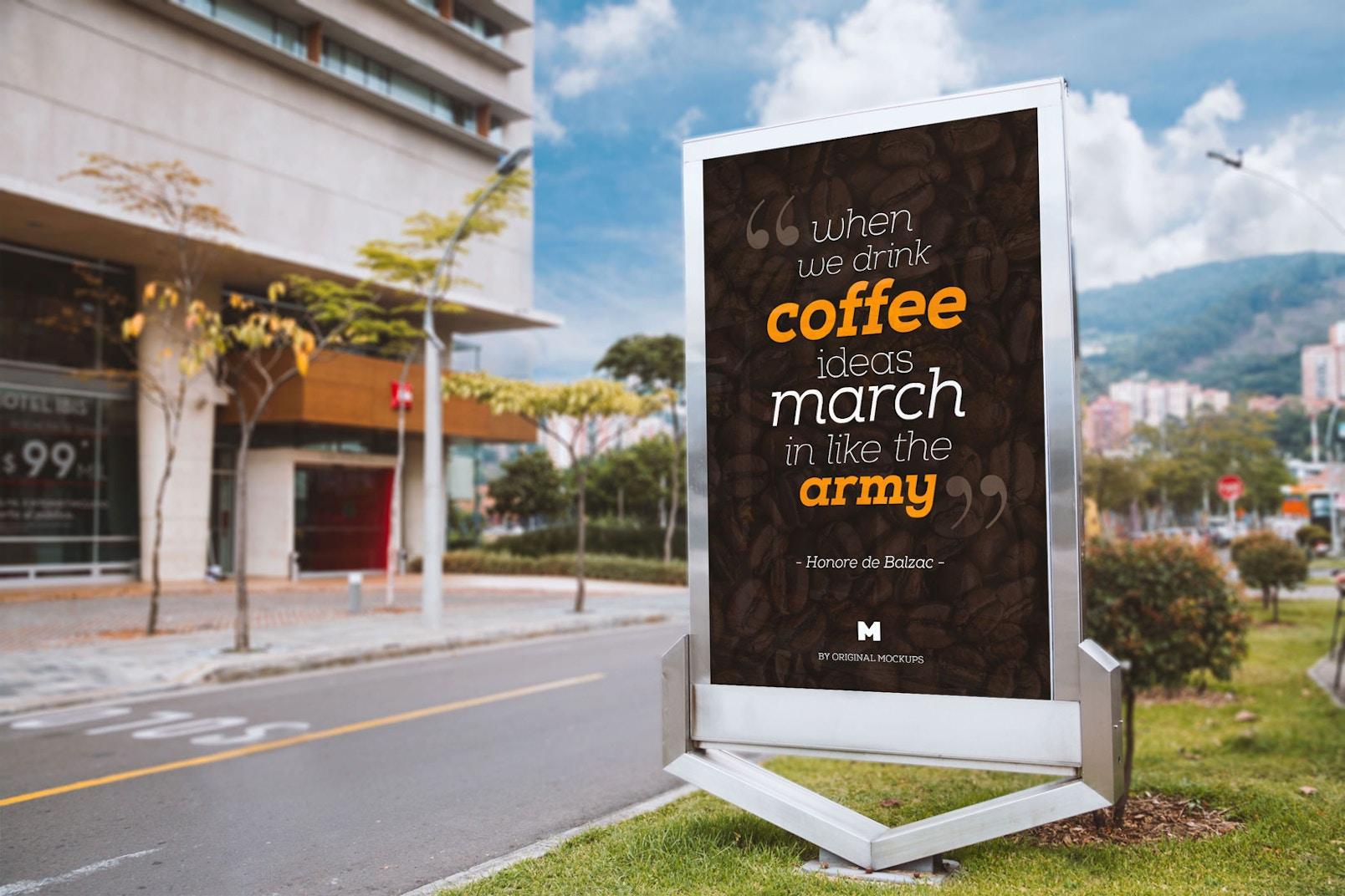 Billboard Outdoor Advertising PSD Mockup