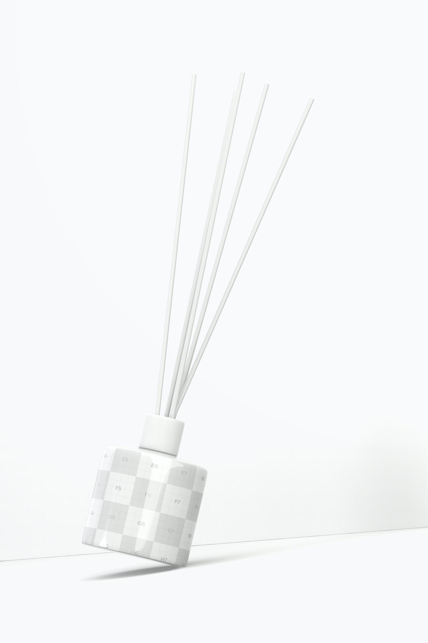 Ceramic Reed Diffuser Mockup, Front View