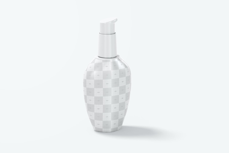 Cream Pump Bottle Mockup