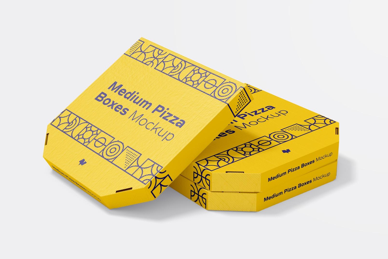 Medium Pizza Box Mockup