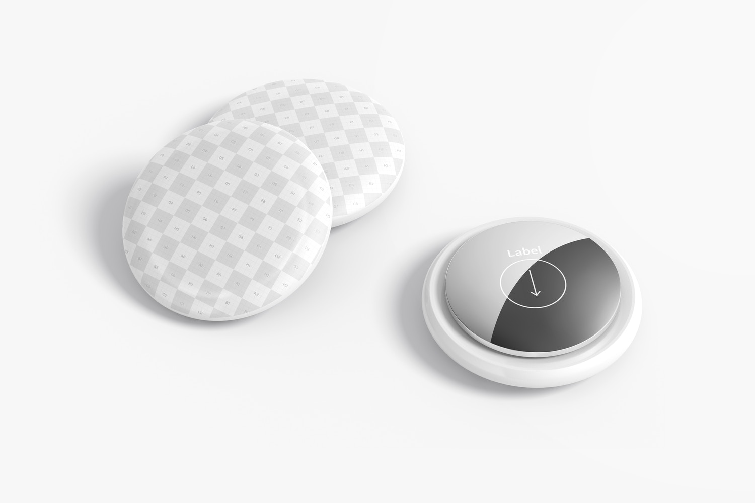 AirTags Mockup, Perspective View 02