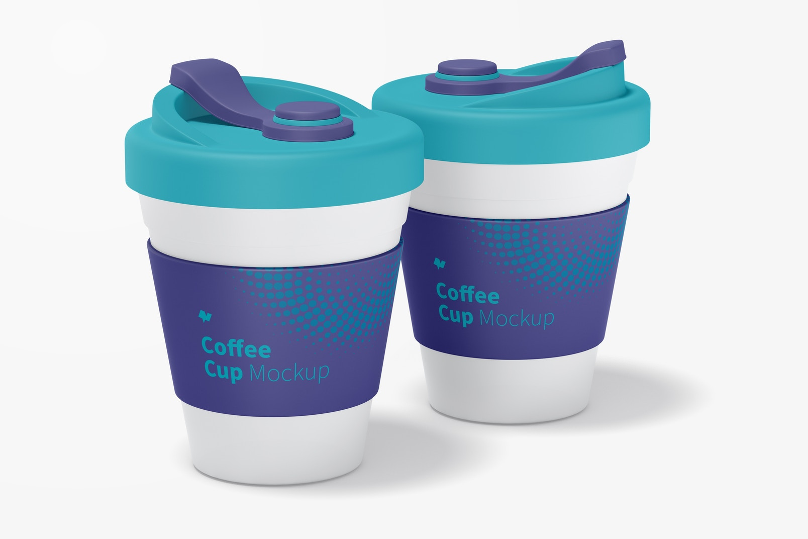 Coffee Cups with Lid Mockup