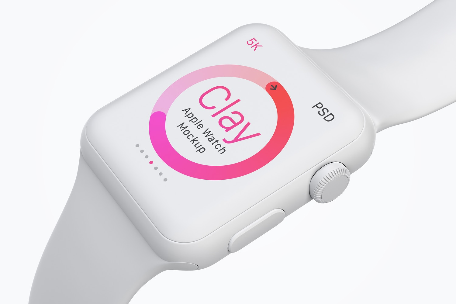 Clay Apple Watch Mockup 05 by Original Mockups on Original Mockups