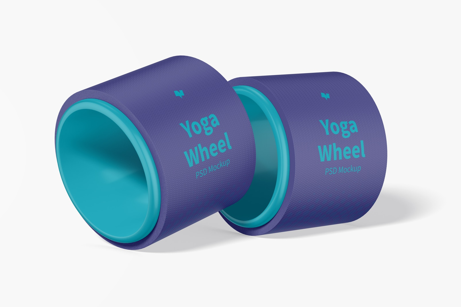 Yoga Wheel Mockup, Leaned