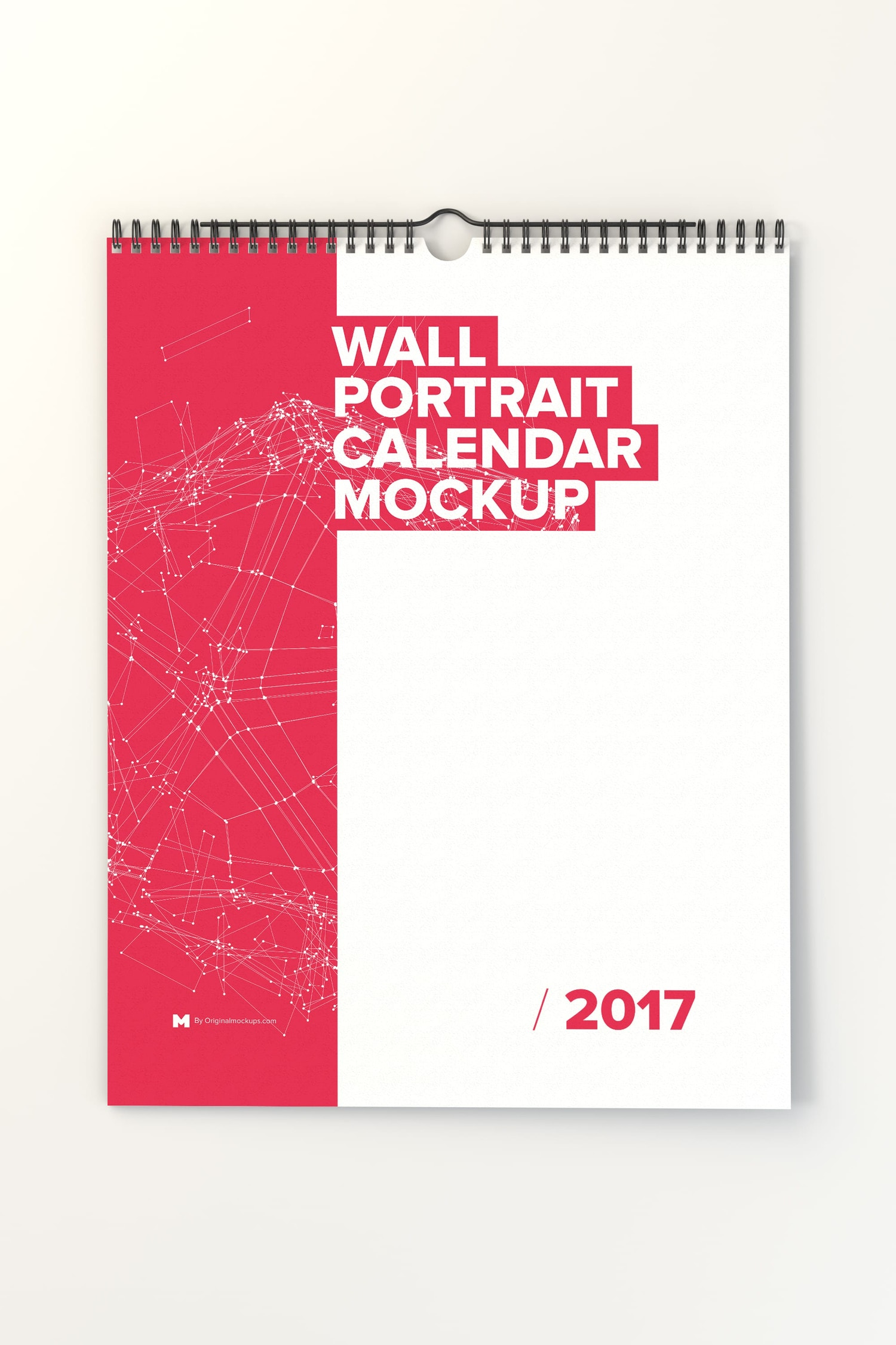 Wall Portrait Calendar Mockup