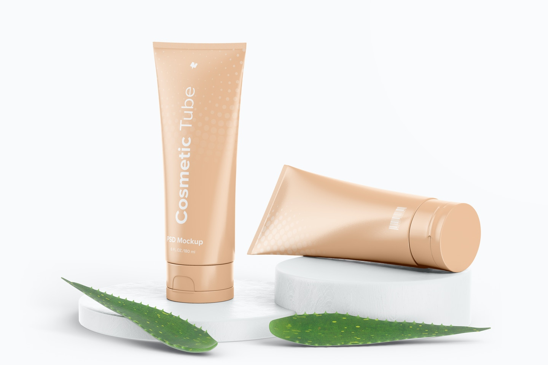 180 ml Cosmetic Tubes Mockup