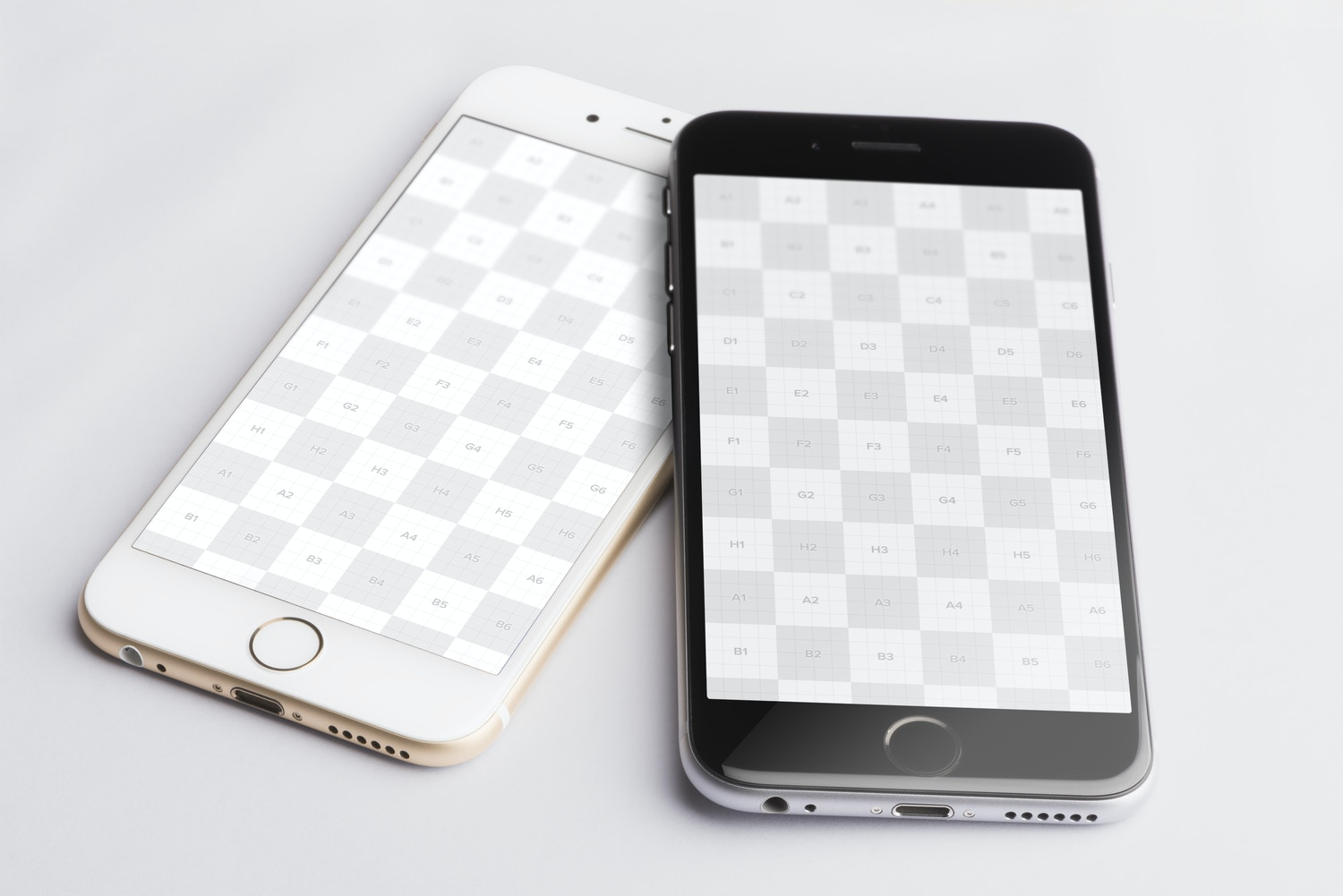 Iphone 6 Gold and Spacegray PSD Mockup 02