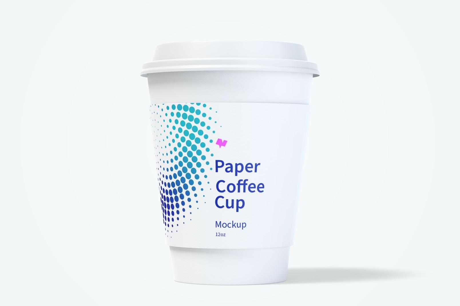 12oz Paper Coffee Cup Mockup