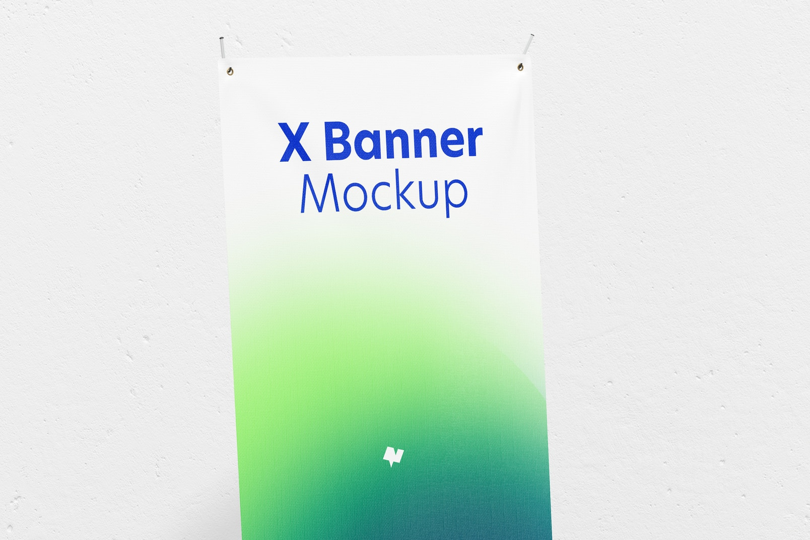 X Banner Mockup, Perspective
