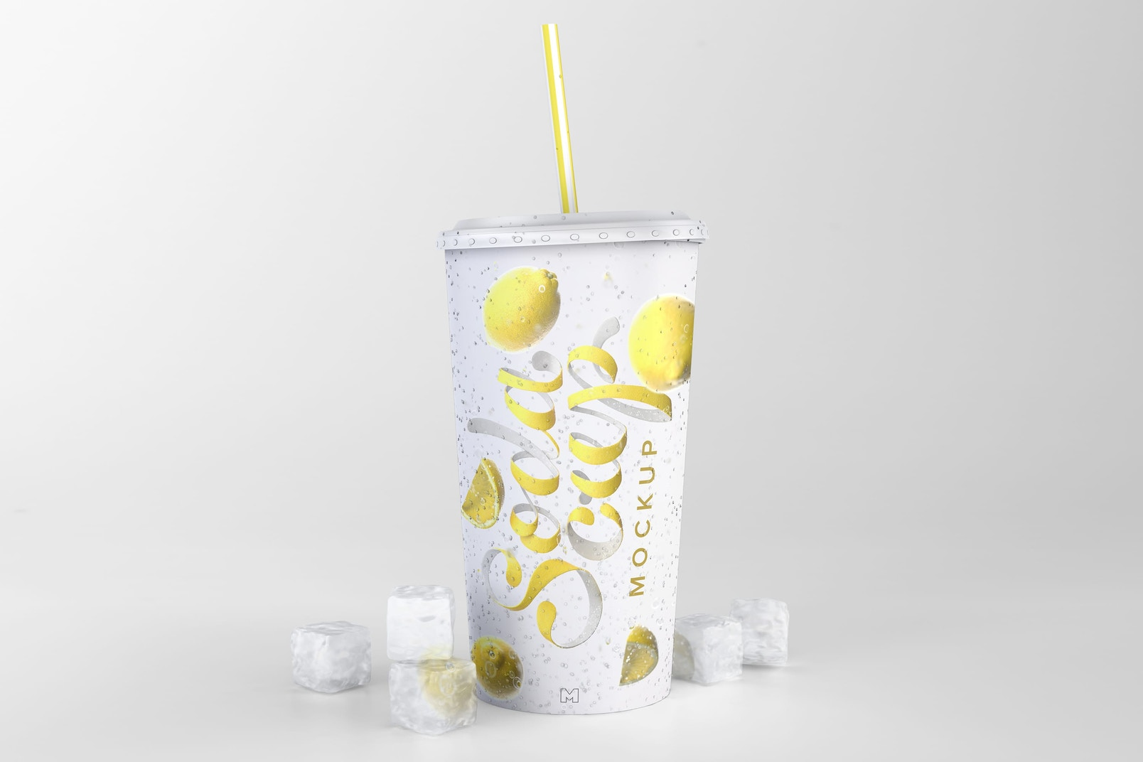 A unique Soda Cup Mockup to create stunning presentations of your promotions.